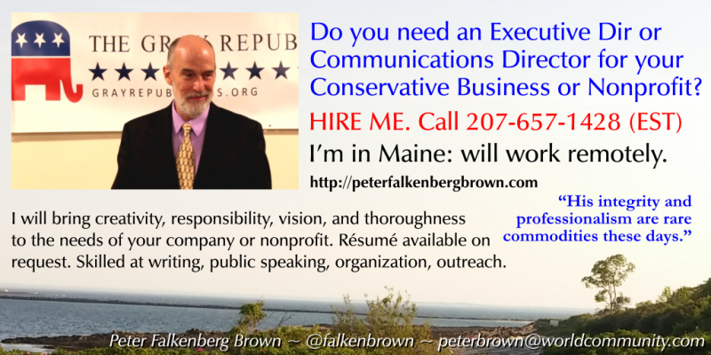 Need an Exec Dir or Communications Director for your Conservative Business or Nonprofit? HIRE ME.