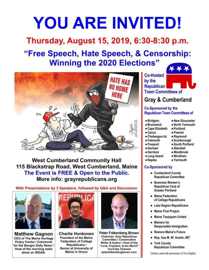 Flyer: Free Speech, Hate Speech, & Censorship: Winning the 2020 Elections
