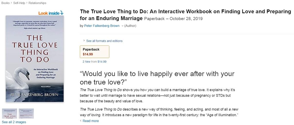 The True Love Thing to Do page on Amazon